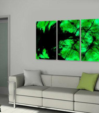 картини абстрактно зелено и черно