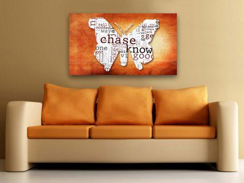пеперуда надписи абстрактна картина