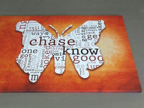 пеперуда надписи абстрактно оранжево