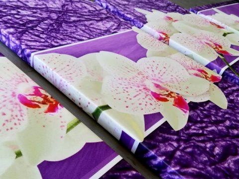 пано орхидея 4 части канава