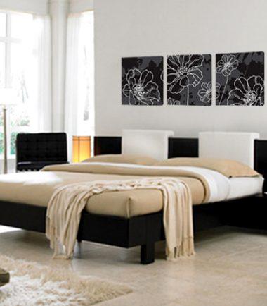 картина Флорални мотиви черно бяло