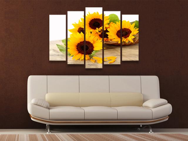 картини слънчоглед 5 части