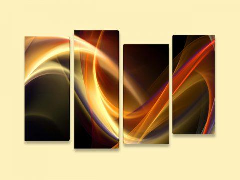 абстрактни вълни 4 части