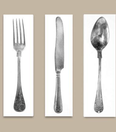 модерно пано нож вилица лъжица кухня ресторант