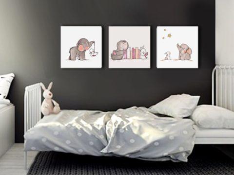 детска картина слонче и зайче