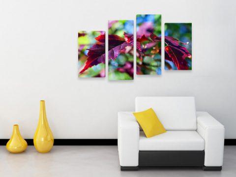 картина цветни листа