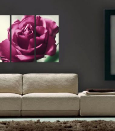 картина пано роза 3 части
