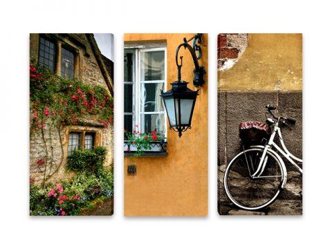 онлайн магазин картини, картина вино сирена 5 части, градски мотиви колело прозорец къща