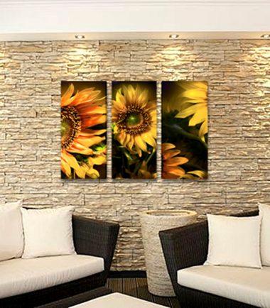 картина слънчогледи 3 части