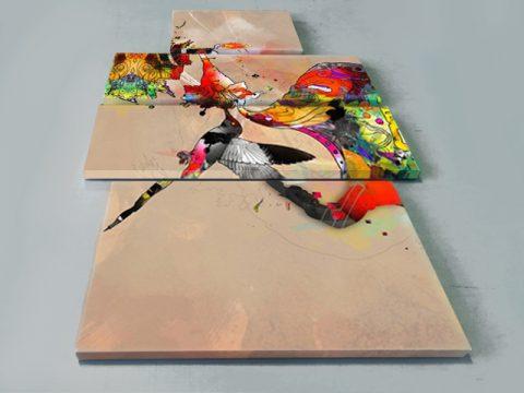 колибри абстракция