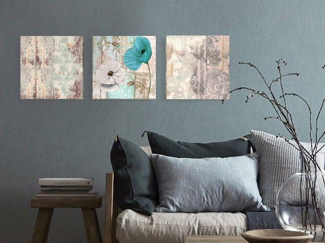 онлайн магазин картини, картина тюркоаз мак винтидж 3 части