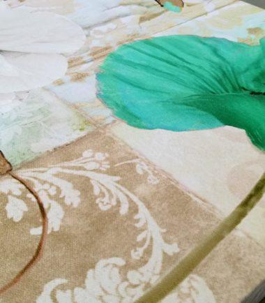 зелен мак винтидж 3 части