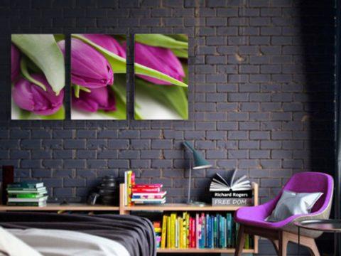 лилави лалета