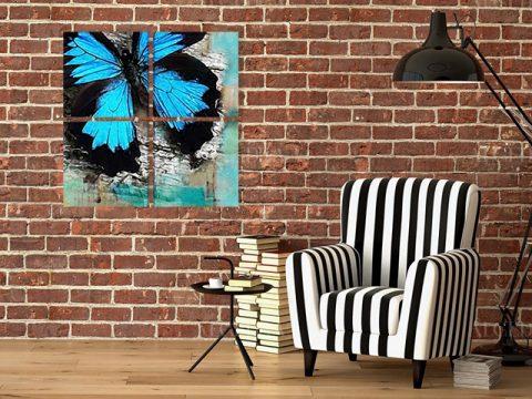 картина пано арт пеперуда
