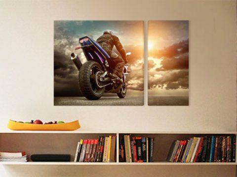картина мотор моторист облаци небе