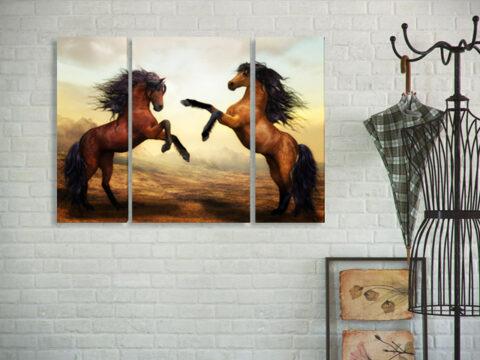 картина коне 3 части
