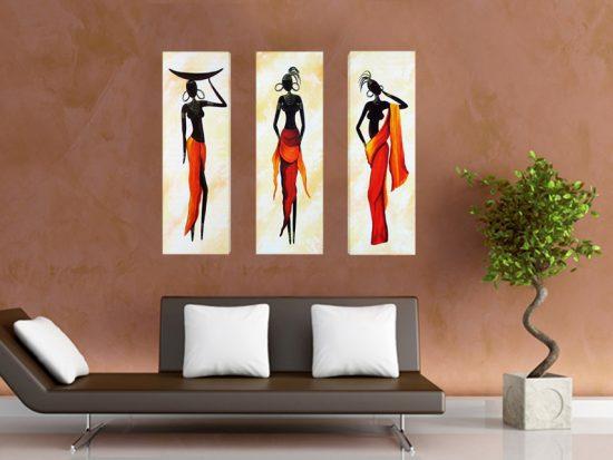 картина африканки триптих