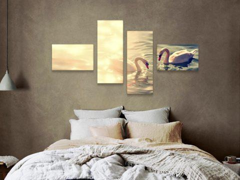 картина бели лебеди