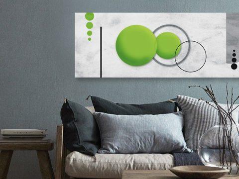 картина абстракт зелени кръгове