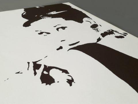 принт канава с Одри Хепбърн
