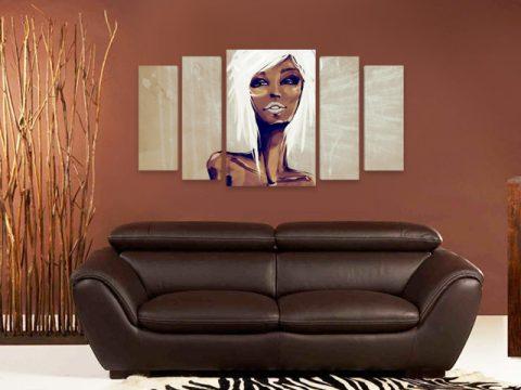 рисувана арт жена