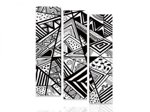 черно бяло абстракт