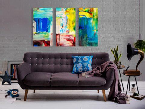 Цветен абстракт картина