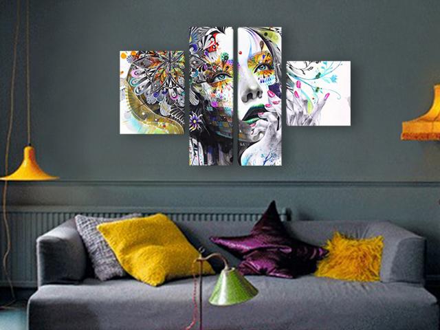 картина Жена арт графика
