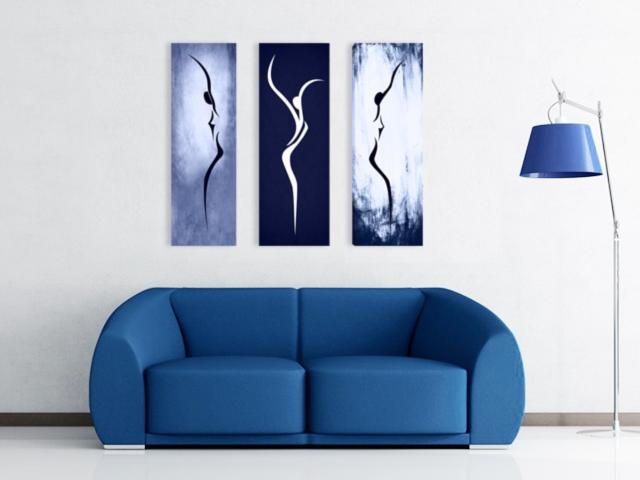 картина Силуети синьо