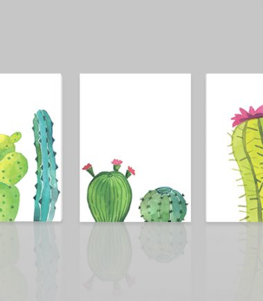 пано кактуси рисунка 3 части