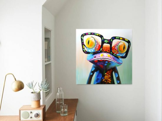 картина поп арт жаба