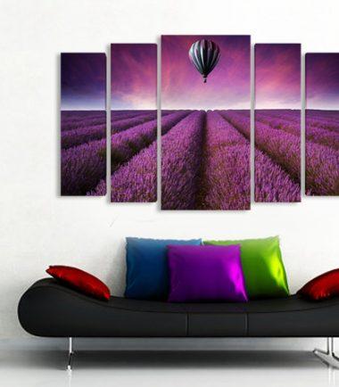 картина Пейзаж поле лавандула