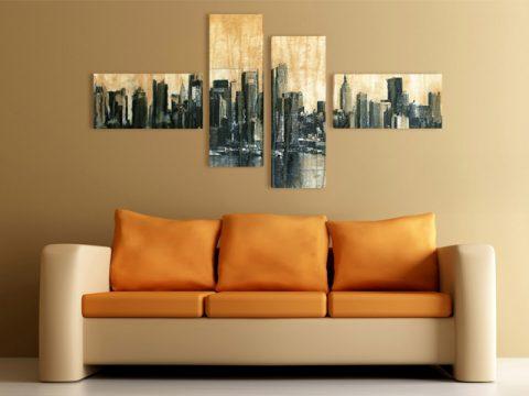 градски пейзаж картина