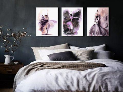 онлайн магазин картини, картина балерини акварел