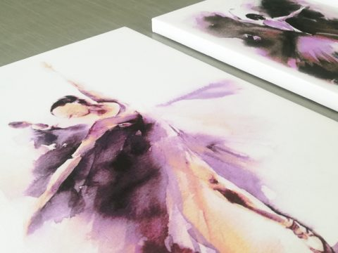 онлайн магазин картини, картина за стена с акварелни балерини от 3 части