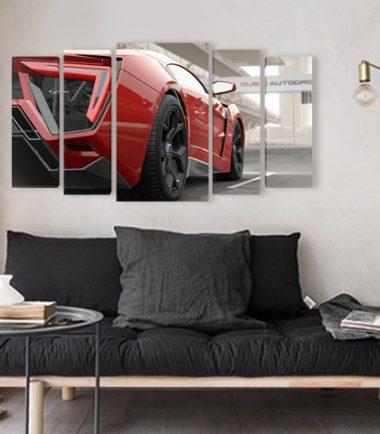 декоративни панели с кола от 5 части, картини