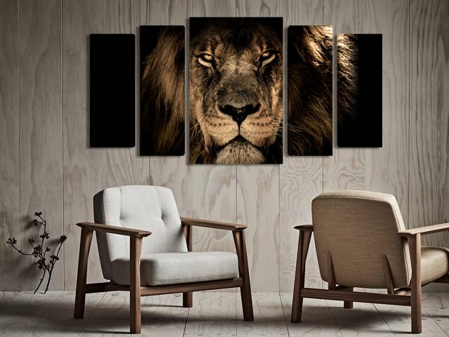 лъв картина