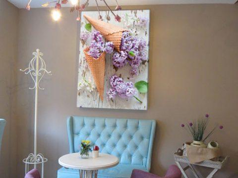 картина сладолед люляк