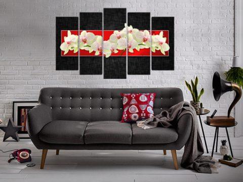 пано Орхидеи черно