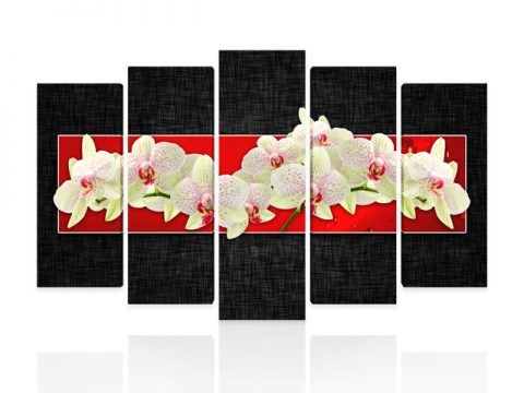 картини орхидеи червено 5 части канава