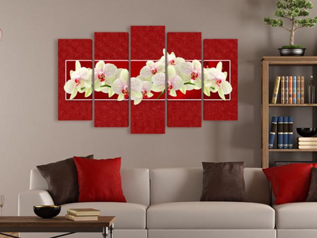 пано Орхидеи червено