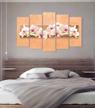 картини орхидеи праскова 5 части канава