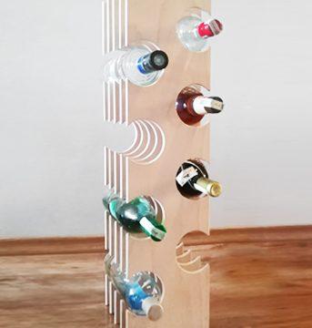 дизайнерски стойка за вино бутилки