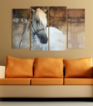 Кон Рисунка картина за стена