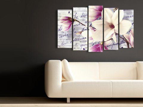 картина магнолия винтидж, онлайн магазин картини за стена