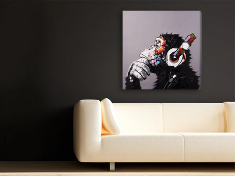 картина пано маймуна поп арт, онлайн магазин картини