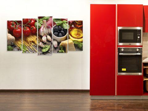 картина пано Кухня, онлайн магазин картини за стена, 5 части