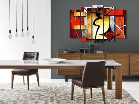 абстрактна картина силует, онлайн магазин картини