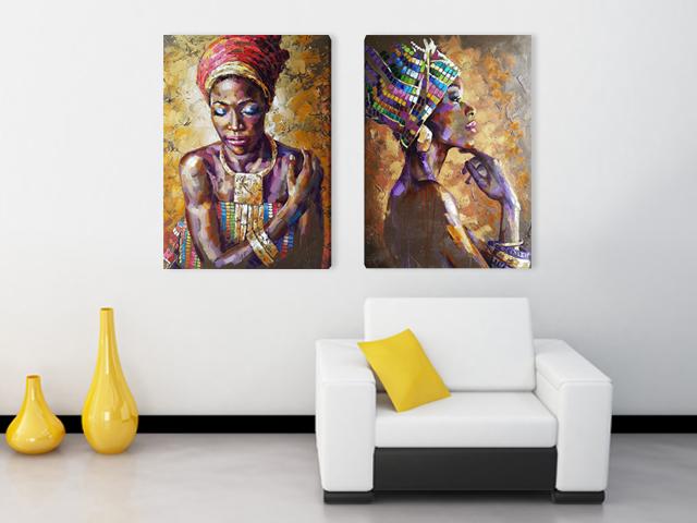 картина африканки арт 2 части