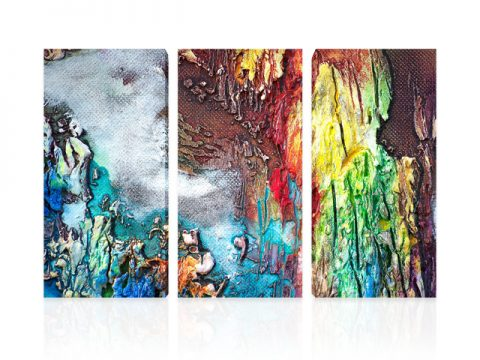 картина пано Абстрактен триптих